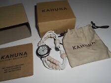 Kahuna Ladies Womens Bead Bracelet Toggle Strap watch white/cream beads