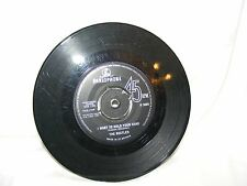 """VINTAGE 1963 PARLOPHONE VINYL THE BEATLES 7"""" RECORD I WANT TO HOLD YOUR HAND"""