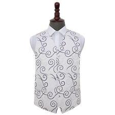 "DQT Premium Jacquard Scroll Patterned Formal Men's Wedding Waistcoat 36""-50"""