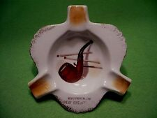 Vintage souvenir of WEST CHESTER PENNSYLVANIA ashtray with PIPE & MATCHSTICKS.