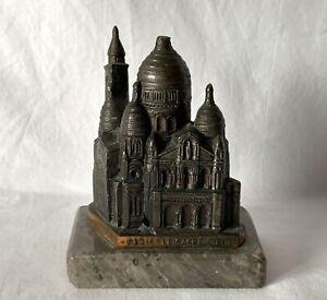 Vintage Rare Souvenir European Landmarks Model SACRE COEUR Paris STONE BASE