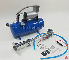 SOLO SINGLE COMPACT TRAIN BOAT AIR HORN WITH 150 PSI LITER AIR COMPRESSOR 12V
