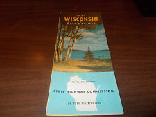 1957 Wisconsin State-issued Vintage Road Map