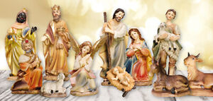 Xmas Traditional Nativity Set Christmas Indoor Ornament 11 Figurines Decor 8 cm