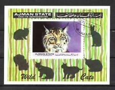 Animaux Chats sauvages Ajman (78) bloc oblitéré