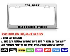 CHROM METAL&Custom PERSONALIZED High Quality Metal License Plate Frame Tag Cover