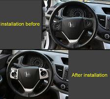 ABS Chrome Steering Wheel Cover Trim For Honda CRV CR-V 2012 2013 2014 2015 2016