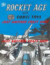 Corgi Toys Rocket Age GS 6 Gift Set Military Operating Instruction Leaflet