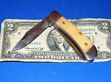 Vintage Unbranded Bone Handled Pocket Knife