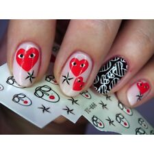 Nail Art Water Decals Stickers Transfers VALENTINES Day Love Hearts Faces YU666
