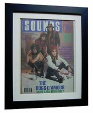 DOGS D'AMOUR+POSTER+AD+FRAMED+OFFICIAL+SOUNDS+ORIGINAL 1989+EXPRESS GLOBAL SHIP