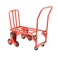 More details for heavy duty tri-wheel design stair climbing trolley cart with flat bed transport