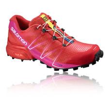 Scarpe da ginnastica rossi sintetici marca Salomon per donna