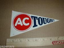 Pair AC TOUGH Delco original GM NASCAR Auto Drag Racing Vintage Sticker Decals