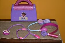 DISNEY DOC MCSTUFFINS LOT 6 DOCTORS SET 'BAG' THERMOMETER HEADBAND GLITTTER EUC