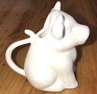 Twos Company White Ceramic Cow Creamer Milk Pitcher Ceramic