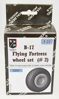 "Halberd Models"" B-17 Flying Fortess wheel set #2 1/32 for HK Models"