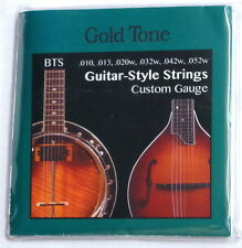 GOLD TONE Banjitar Banjo-Guitar Strings 6 string LOOP-END .010 - .052  - NEW