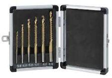 SET 6 PUNTE TRAPANO multifunzione mm 3,4,5,6,6.5,8 forare fresare metallo legno