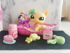 💖Littlest Pet Shop 1961 & 1962 LPS Yellow Nintendo Shorthair Yellow Cat Rare💖