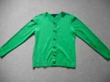 Womens Sweater-KARSONA & TAYLOR-green rayon blend cardigan ls-M
