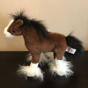 GUND DALE THE CLYDESDALE HORSE Brown Stuffed Animal Toy EUC! 10 INCH PLUSHIE