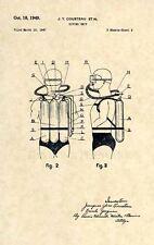Official Cousteau Scuba Diving US Patent Art Print- Vintage Regulator Dive -259