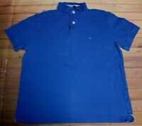 Tommy Hilfiger Short Sleeve SS Casual Polo Shirt Top Blue Womens S Small Solid