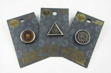 Harry Potter Fantastic Beasts Pewter Pin Set of 3 Stupefy Beast Face Wicked Eye