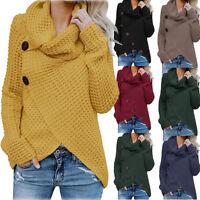 Le donne pulsante lungo manica maglione Pullover top camicetta camicia cappotto