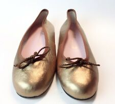 Pretty Ballerinas Bronze Soft Leather Ballet Flats Size 8