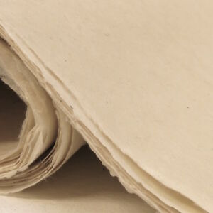 Pack of 5 sheets Lokta Wrapping Paper Natural Colours, Handmade and Fair Trade.