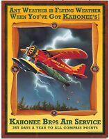 Kahonee Bros Air Service Retro Vintage Style Metal Tin Sign Home Wall Decor New