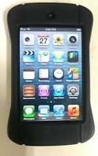 Apple 8Gb iPod Touch 4th Gen. Mp3, A1367, Black Silver Bundled With Rubber Case
