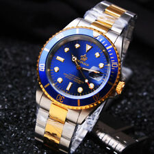 REGINALD SUBMARINER HOMAGE DIVER STYLE Luxury Quartz Watch Blue Gold Miyota