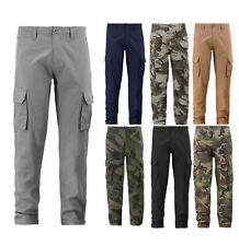 BFUSA Men's Military Army Cargo Pants Cotton Multi Pocket Tactical Work Trousers