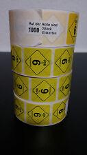 1000 USK 6 - Etiketten Aufkleber Sticker Label Logos Rolle neu