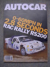 Autocar (12 November 1986) Ford RS200, Suzuki Swift 1.3 GTi, Lotus, RAC Rally