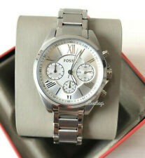 NIB Fossil BQ3035 Modern Courier Midsize Chronograph Stainless Steel Watch