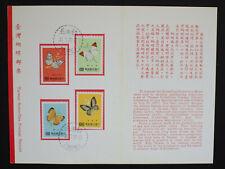 Taiwan 1977 Butterflies on Card