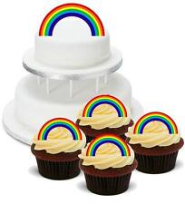 NOVELTY RAINBOW Mix PACK 2 Large 12 Cupcake STAND UP Cake Toppers Birthday