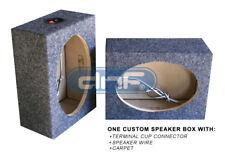 """1 PIECE CAR AUDIO 6"""" x 9"""" SQUARE SPEAKER BOX ENCLOSURE CARPET SPEAKER WIRE"""