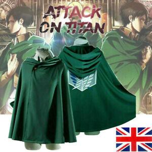 Attack on Titan Cloak Survey Corps Cosplay Costume Anime Shingeki No Kyojin Cape