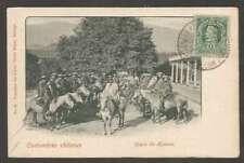 Chile Postcard Grupo De Huasos Men On Horses Columbus Stamp L@@K