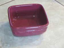 "New ListingLongaberger Pottery Soft Square Small Bowl Paprika 5"" Cereal Dessert Dish Cute +"