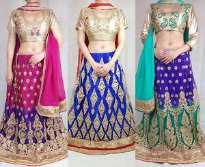 Lengha Choli Indian Bollywood Designer Fully Stitched Lehenga Wedding Party Wear