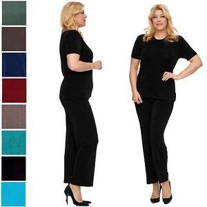 Damen Slinky Hose Stretchhose Basic Pants - Leggins Leggings Treggings Stoffhose
