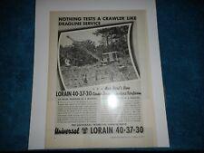 1935 Universal Crane Co. Advertisement: Lorain Model L-40 in Hughes Arkansas