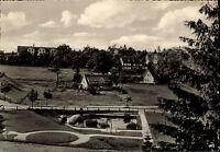 HAHNENKLEE b/ Goslar AK Häuser Siedlung Bockswiese Partie am Springbrunnen ~1960