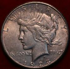 Uncirculated Toned 1923-D Denver Mint Silver Peace Dollar